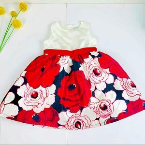 Gymboree baby girl floral puffed dress